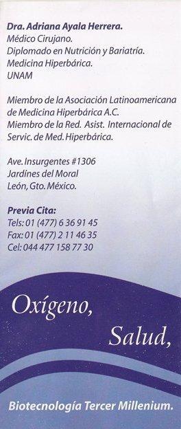 Nutrioxi, Cámara Hiperbárica, León, Guanajuato