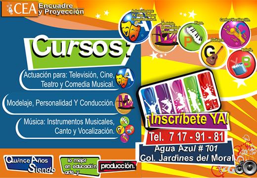 Academia de Actuación, canto y modelaje CEA en León, Guanajuato