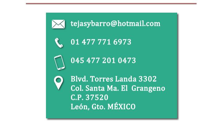 Tejas y Barro de León, Guanajuato