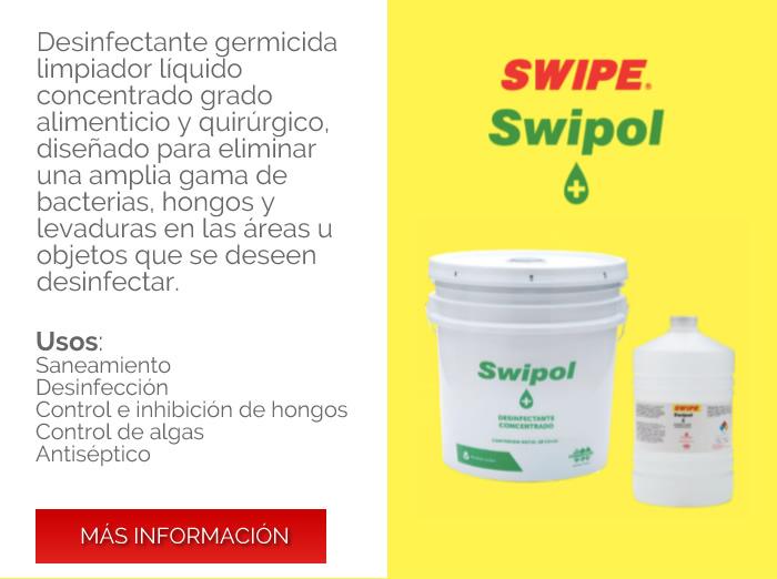 Swipe Limpieza y desinfección